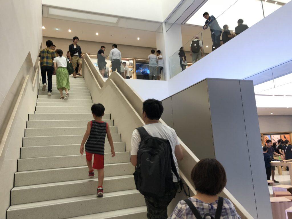 アップルストア京都店の階段の秘密